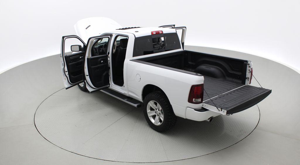 White[Bright White] 2015 Ram 1500 Sport 4WD - Lifted, NAV, Leather, Sunroof Right  Rear Corner Photo in Winnipeg MB