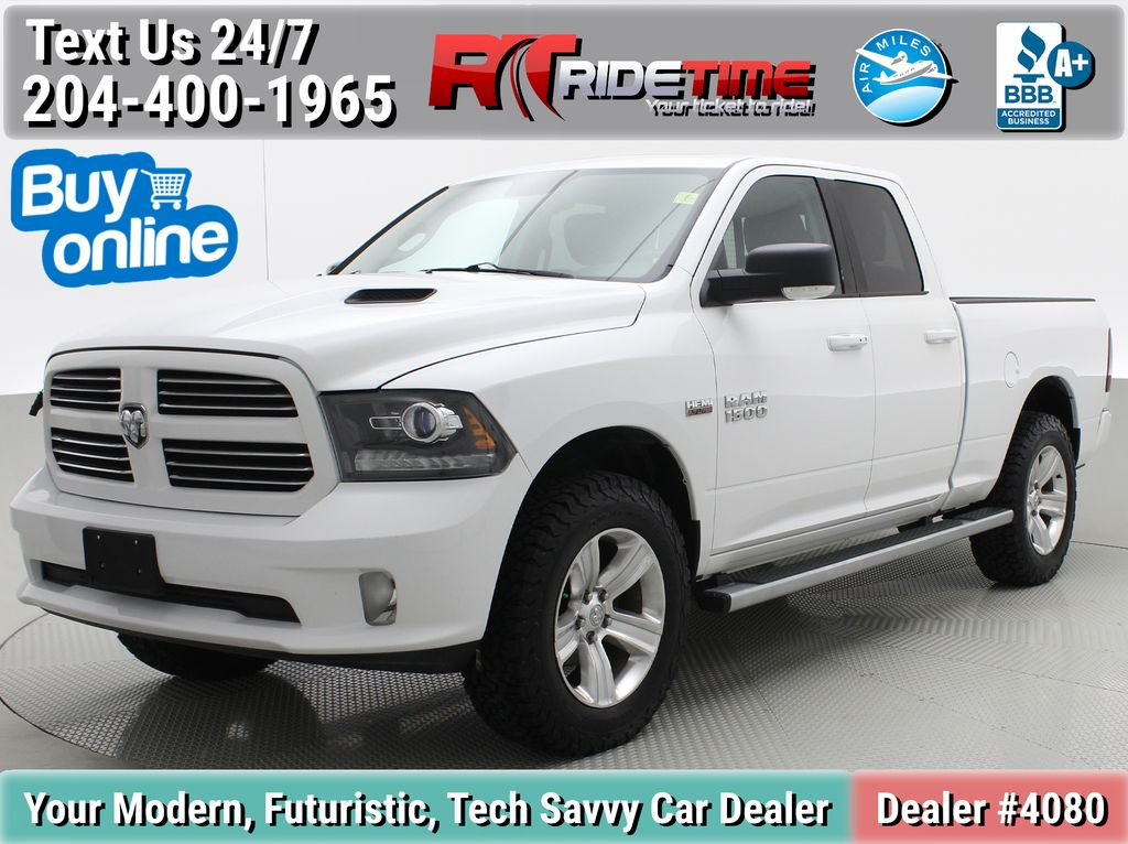White[Bright White] 2015 Ram 1500 Sport 4WD - Lifted, NAV, Leather, Sunroof