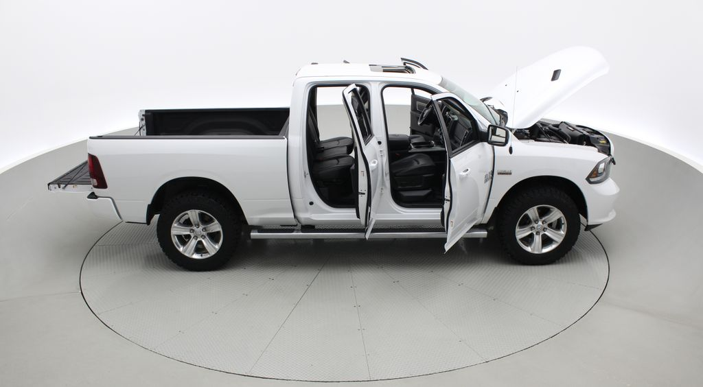 White[Bright White] 2015 Ram 1500 Sport 4WD - Lifted, NAV, Leather, Sunroof Right Side Photo in Winnipeg MB