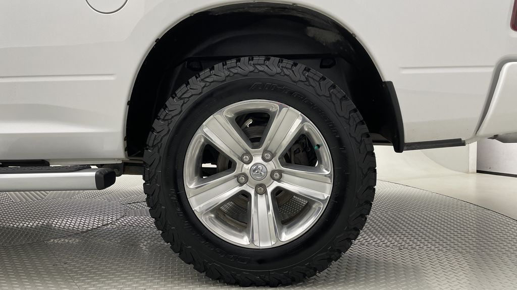 White[Bright White] 2015 Ram 1500 Sport 4WD - Lifted, NAV, Leather, Sunroof Left Rear Rim and Tire Photo in Winnipeg MB