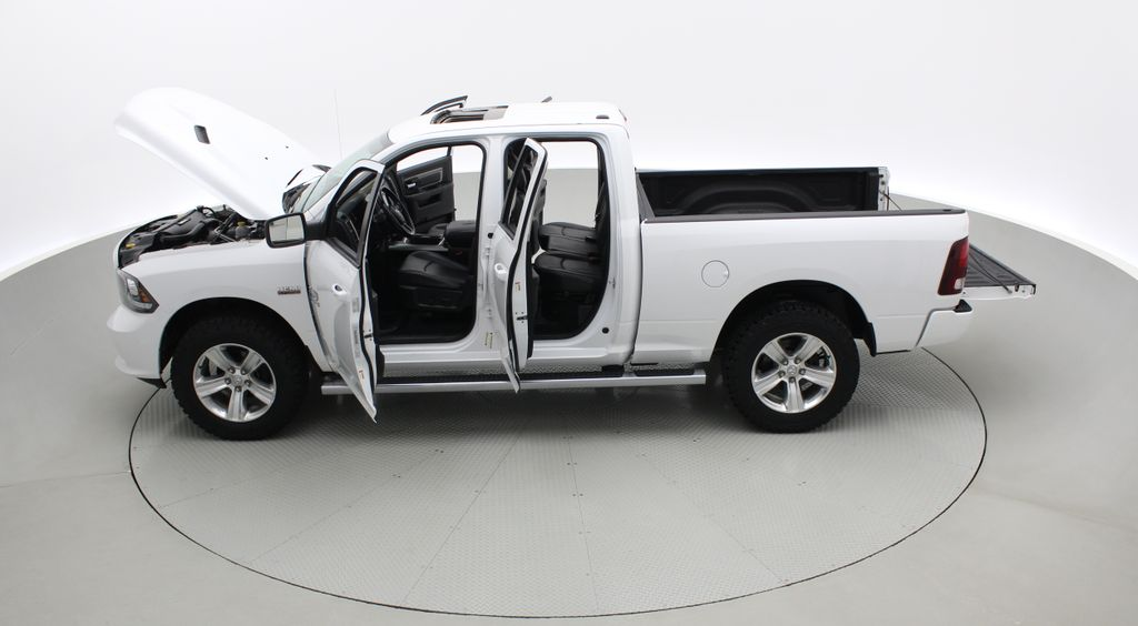 White[Bright White] 2015 Ram 1500 Sport 4WD - Lifted, NAV, Leather, Sunroof Left Side Photo in Winnipeg MB