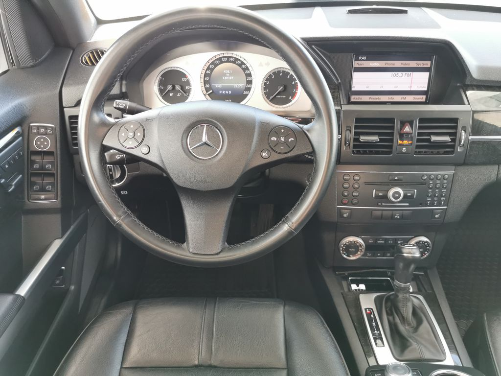 Silver[Palladium Silver Metallic] 2012 Mercedes-Benz GLK-Class Strng Wheel/Dash Photo: Frm Rear in Edmonton AB