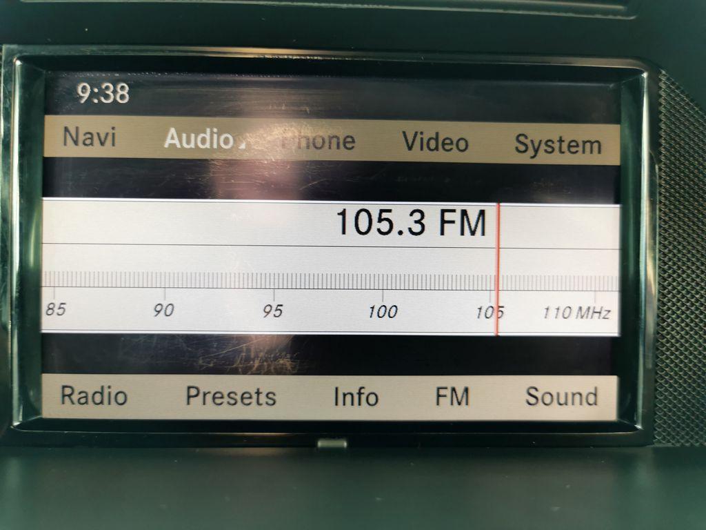 Silver[Palladium Silver Metallic] 2012 Mercedes-Benz GLK-Class Radio Controls Closeup Photo in Edmonton AB