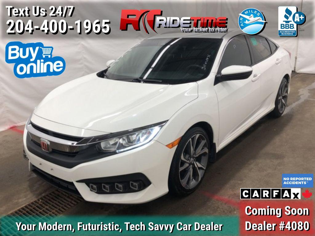 White[White Orchid Pearl] 2018 Honda Civic EX Sedan w/Honda Sensing - Sunroof, Clean CarFax