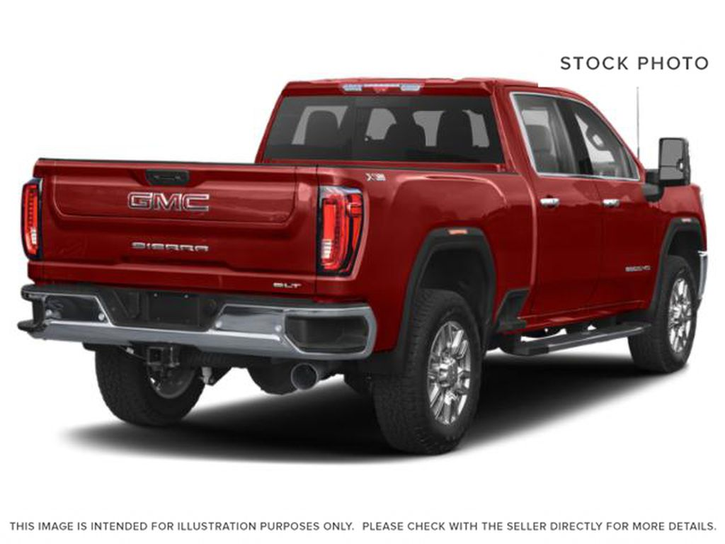 Red[Cardinal Red] 2021 GMC Sierra 3500HD Right Rear Corner Photo in Fort Macleod AB