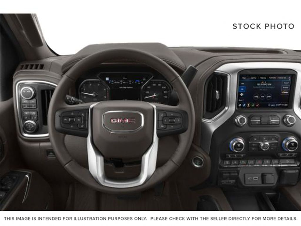 Red[Cardinal Red] 2021 GMC Sierra 3500HD Steering Wheel and Dash Photo in Fort Macleod AB