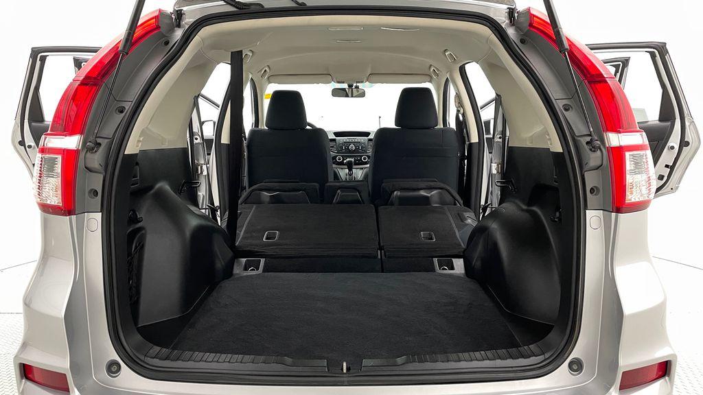 Silver[Alabaster Silver Metallic] 2015 Honda CR-V LX AWD - Backup Camera, Heated Seats Rear Seat: Cargo/Storage Photo in Winnipeg MB