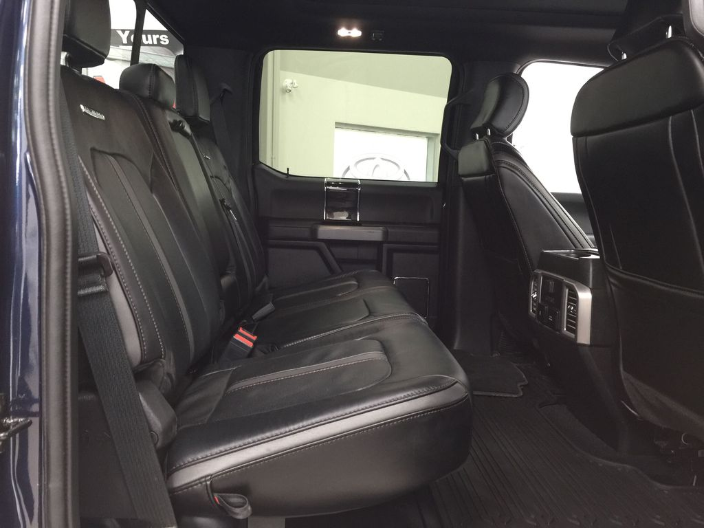 Blue 2020 Ford F-350 Crew Cab / PLATINUM / CREWCAB / 5TH WHEEL PREP PACK Right Side Rear Seat  Photo in Sherwood Park AB
