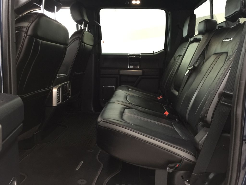 Blue 2020 Ford F-350 Crew Cab / PLATINUM / CREWCAB / 5TH WHEEL PREP PACK Left Side Rear Seat  Photo in Sherwood Park AB