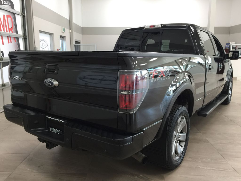 BLACK 2013 Ford F-150 CREWCAB 3.5L ECOBOOST / LEATHER SUNROOF Right Rear Corner Photo in Sherwood Park AB