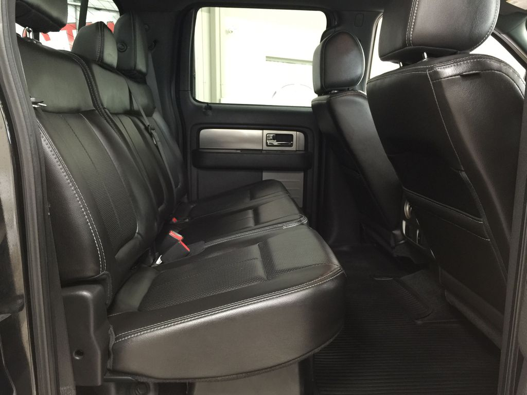 BLACK 2013 Ford F-150 CREWCAB 3.5L ECOBOOST / LEATHER SUNROOF Right Side Rear Seat  Photo in Sherwood Park AB
