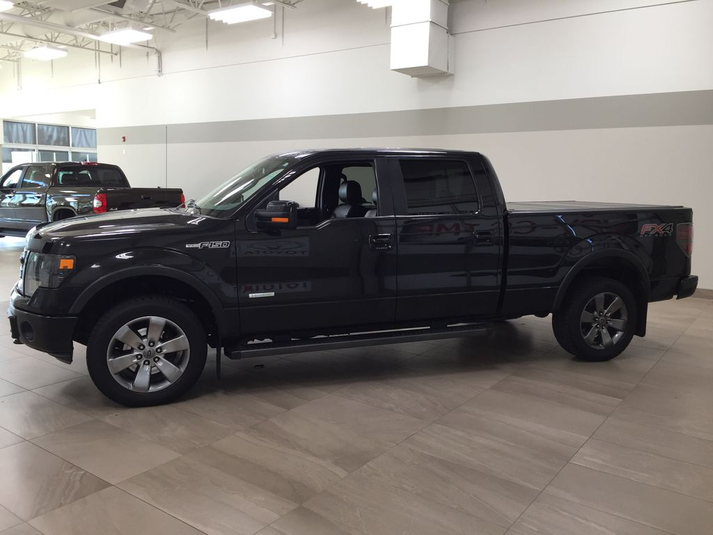 BLACK 2013 Ford F-150 CREWCAB 3.5L ECOBOOST / LEATHER SUNROOF Left Side Photo in Sherwood Park AB