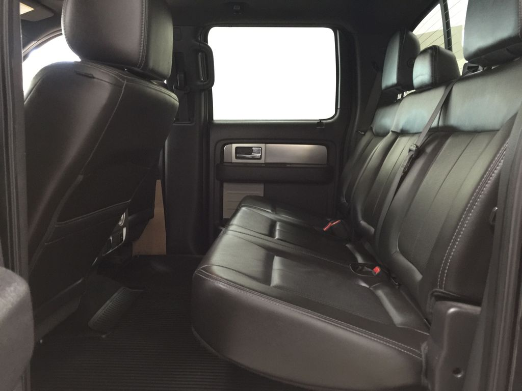 BLACK 2013 Ford F-150 CREWCAB 3.5L ECOBOOST / LEATHER SUNROOF Left Side Rear Seat  Photo in Sherwood Park AB