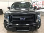 BLACK 2013 Ford F-150 CREWCAB 3.5L ECOBOOST / LEATHER SUNROOF Front Vehicle Photo in Sherwood Park AB