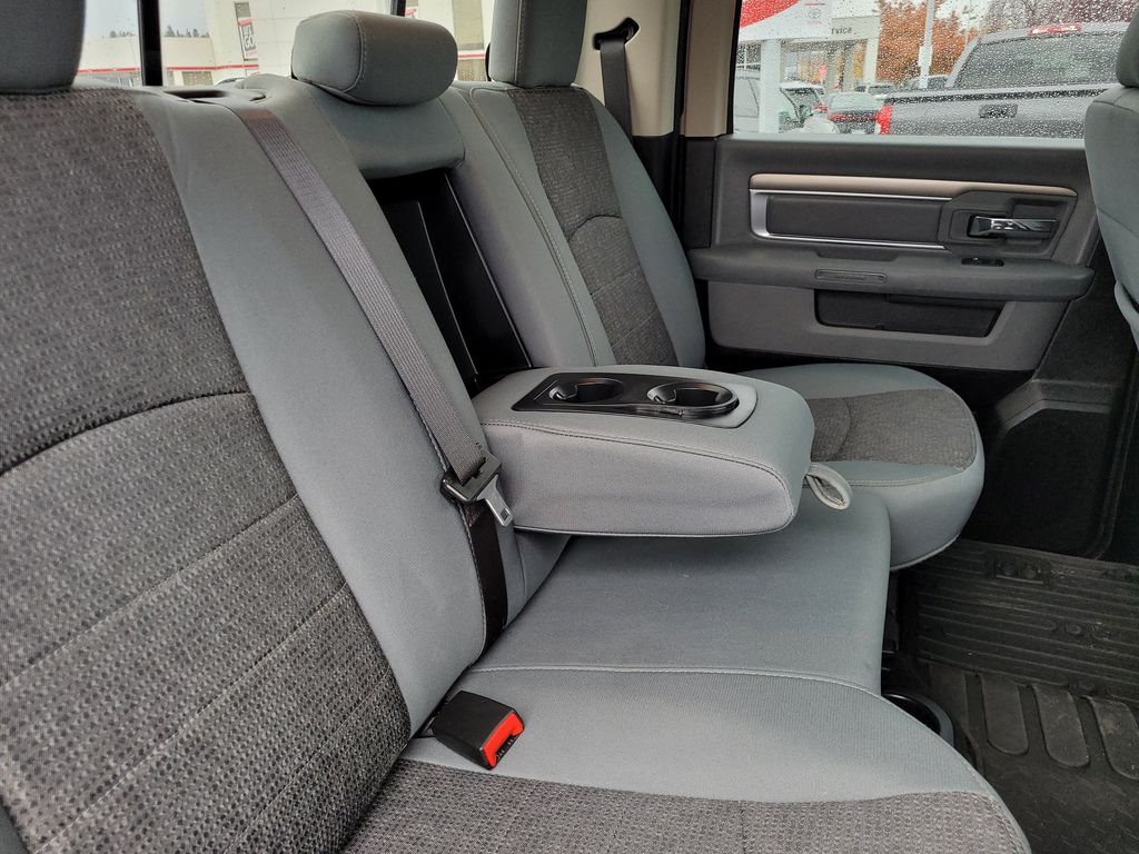 Black[Brilliant Black Crystal Pearl] 2018 Dodge Ram 1500 Bighorn 4WD Right Side Rear Seat  Photo in Kelowna BC