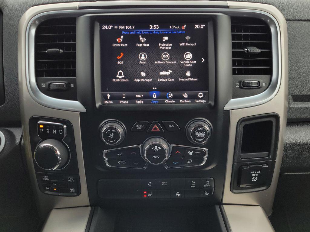 Black[Brilliant Black Crystal Pearl] 2018 Dodge Ram 1500 Bighorn 4WD Central Dash Options Photo in Kelowna BC