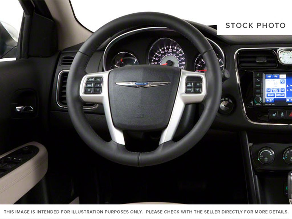 2011 Chrysler 200 Steering Wheel and Dash Photo in Medicine Hat AB