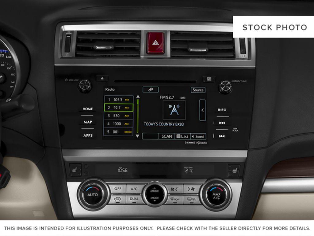 White[Crystal White Pearl] 2015 Subaru Legacy Radio Controls Closeup Photo in Lethbridge AB