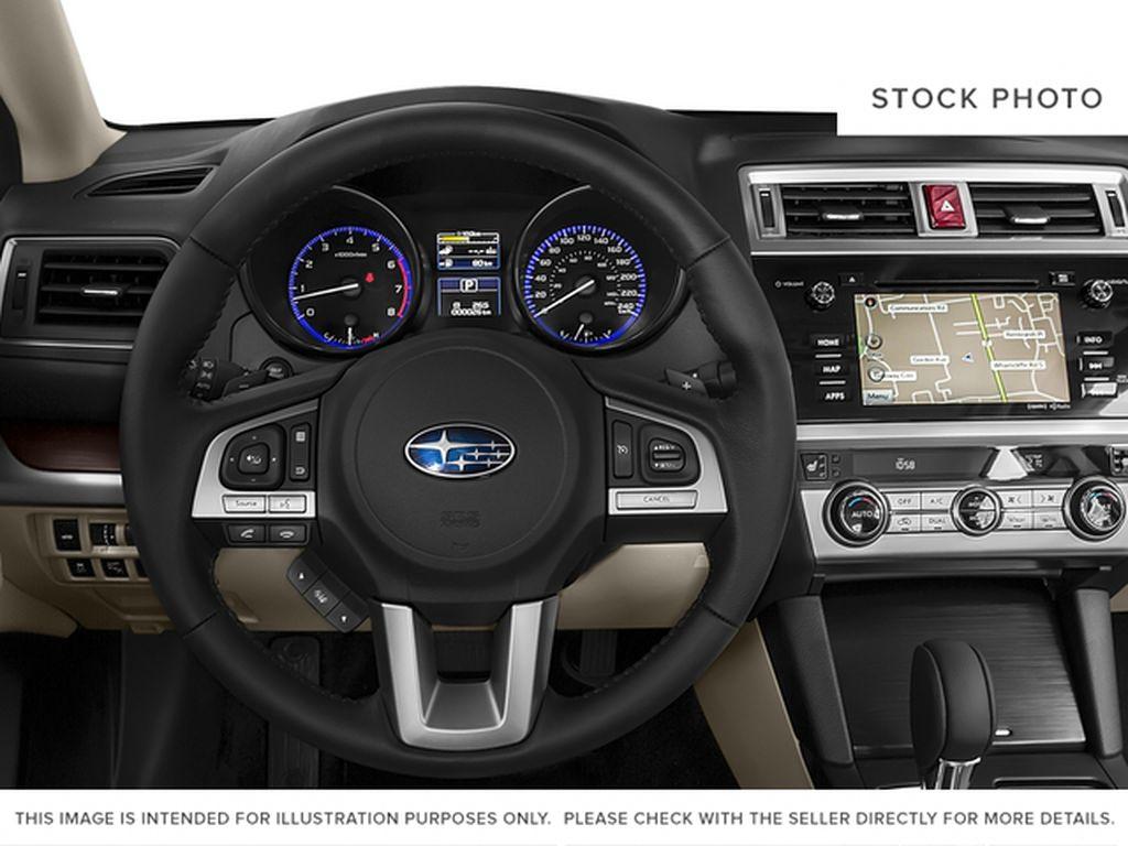White[Crystal White Pearl] 2015 Subaru Legacy Steering Wheel and Dash Photo in Lethbridge AB