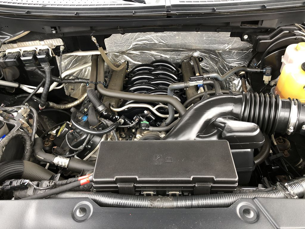 Black[Tuxedo Black Metallic] 2014 Ford F-150 Engine Compartment Photo in Edmonton AB