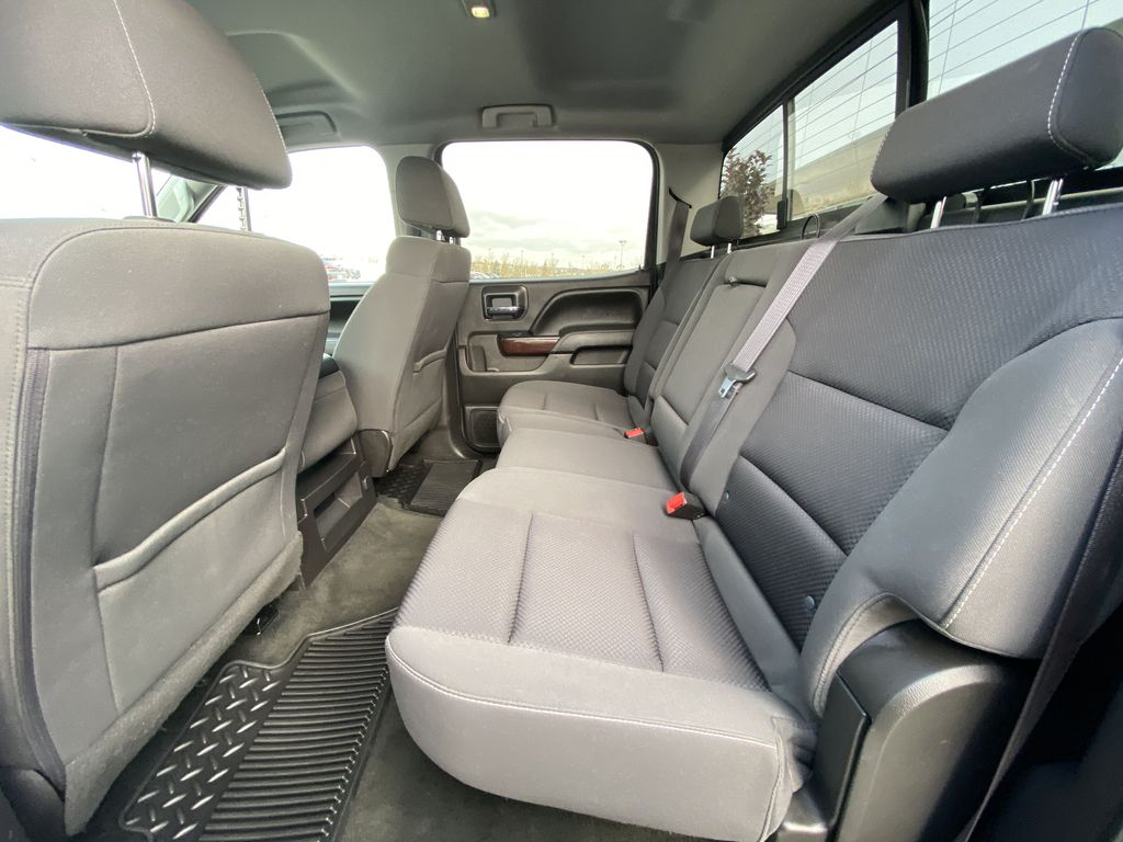White[Summit White] 2016 GMC Sierra 1500 SLE Left Side Rear Seat  Photo in Calgary AB