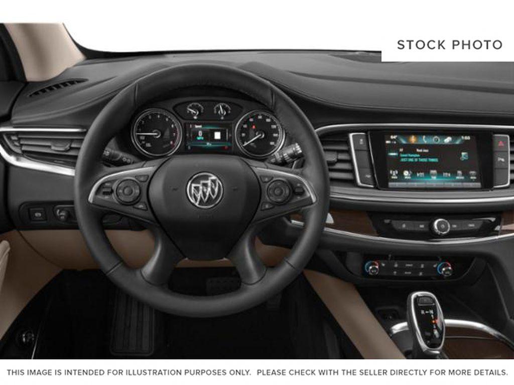 Black[Ebony Twilight Metallic] 2021 Buick Enclave Steering Wheel and Dash Photo in Medicine Hat AB