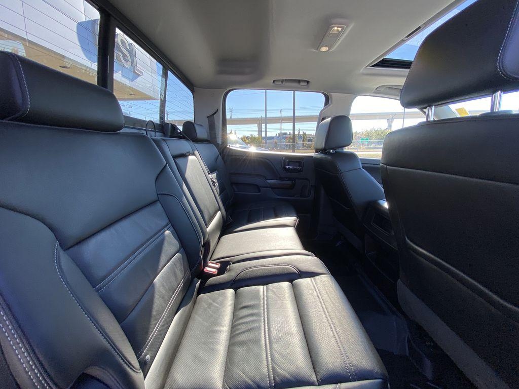 White[White Frost Tricoat] 2018 GMC Sierra 1500 Denali Passenger Rear Door Controls Photo in Calgary AB
