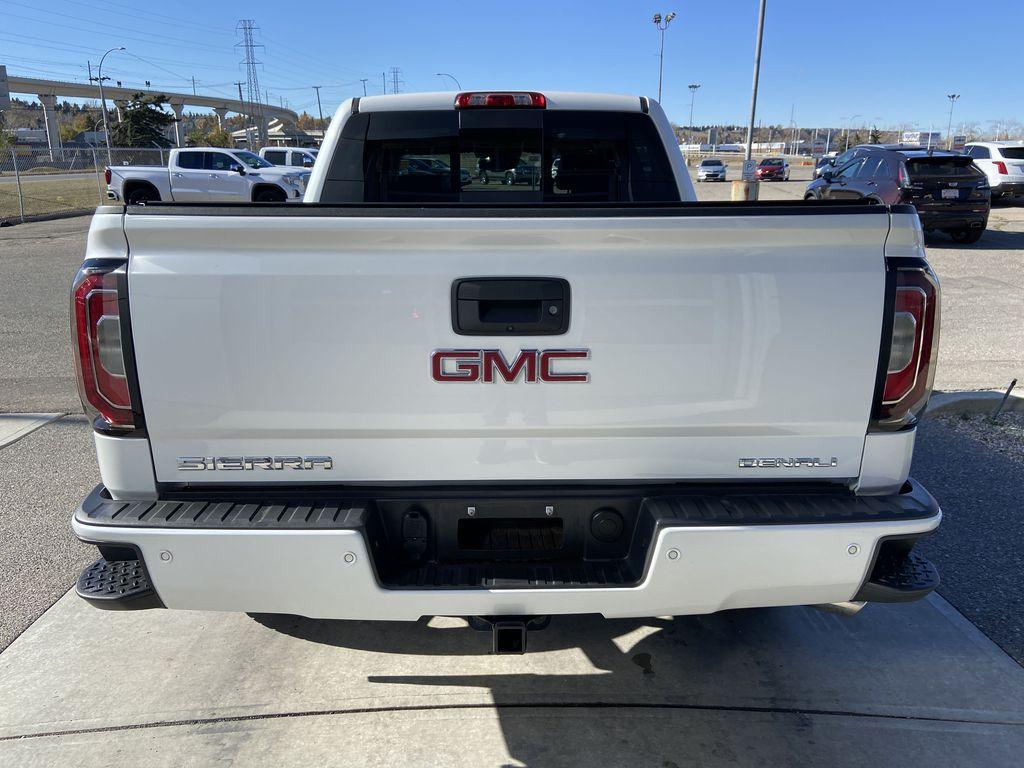 White[White Frost Tricoat] 2018 GMC Sierra 1500 Denali Rear of Vehicle Photo in Calgary AB