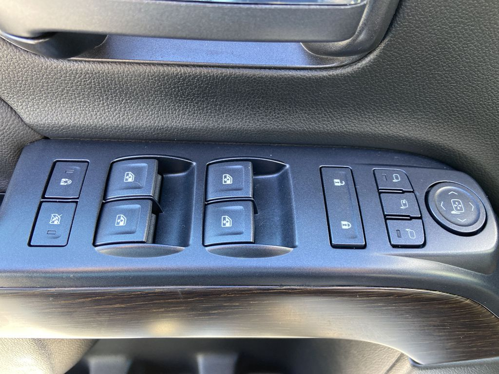 White[White Frost Tricoat] 2018 GMC Sierra 1500 Denali  Driver's Side Door Controls Photo in Calgary AB