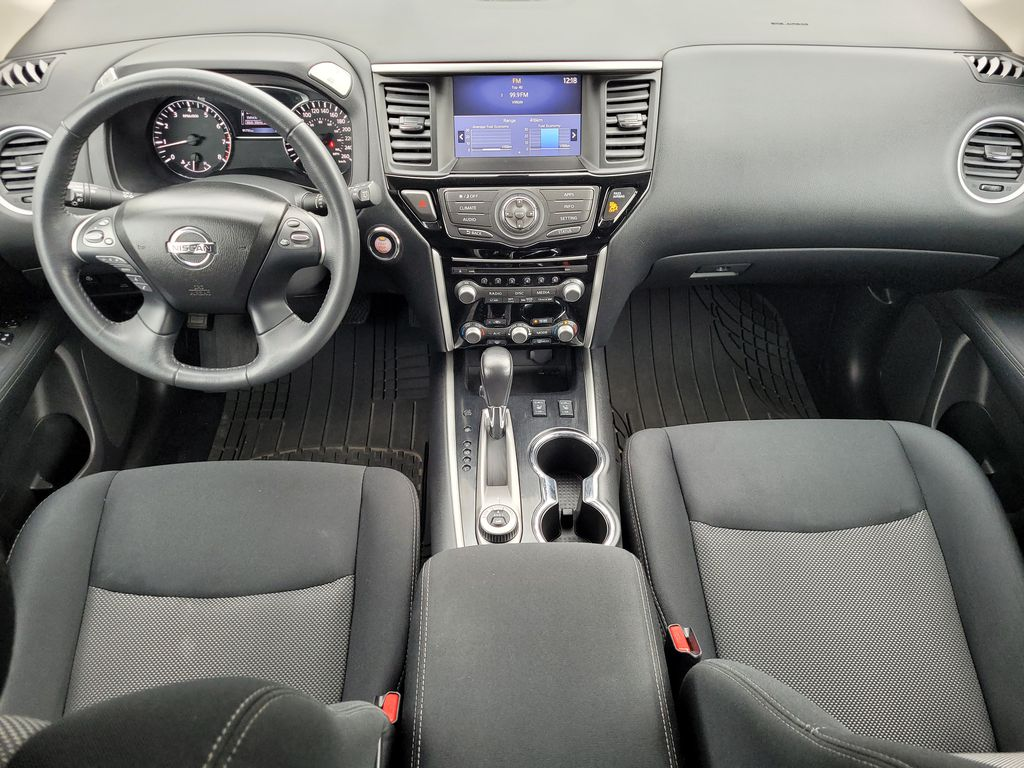 White[Glacier White] 2017 Nissan Pathfinder SV 4WD Main Interior Photo in Kelowna BC