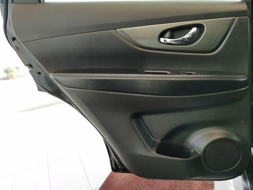 Black[Super Black] 2015 Nissan Rogue Left Rear Interior Door Panel Photo in Edmonton AB