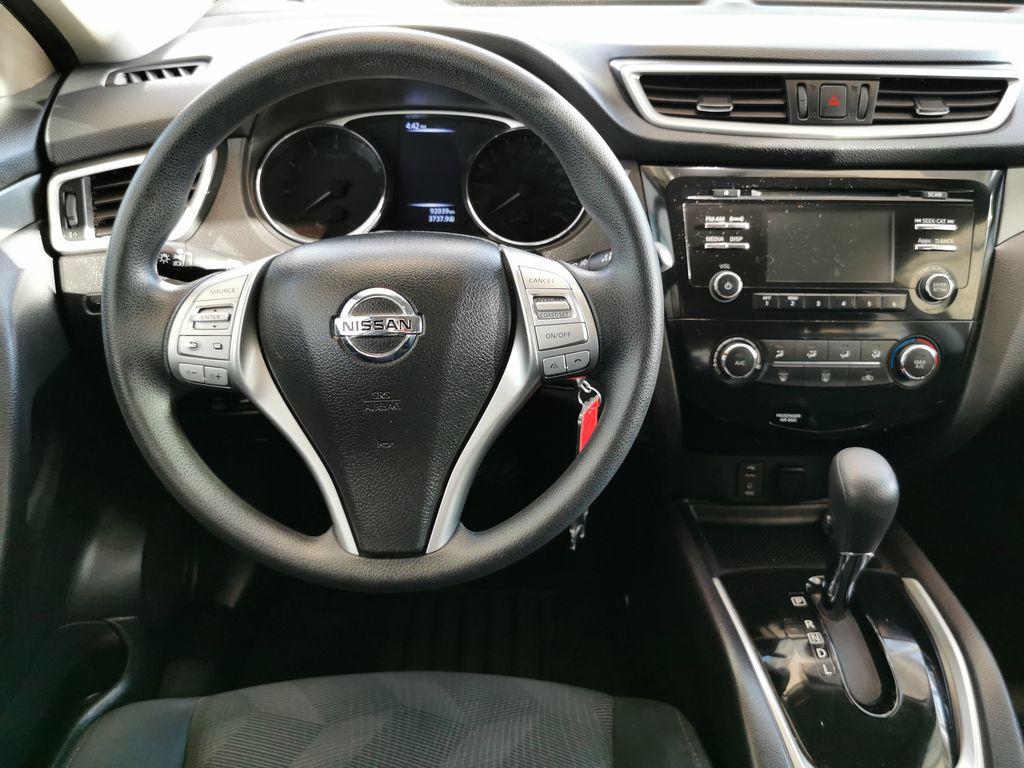 Black[Super Black] 2015 Nissan Rogue Strng Wheel/Dash Photo: Frm Rear in Edmonton AB
