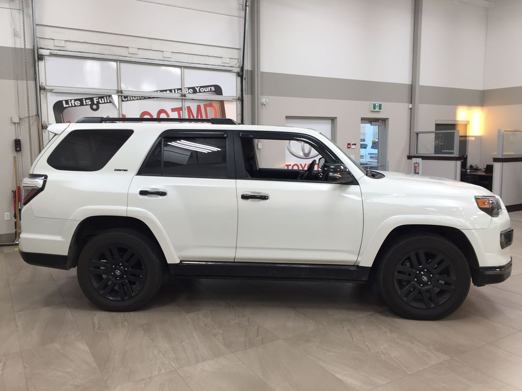 White[Blizzard Pearl] 2019 Toyota 4Runner Nightshade Right Side Photo in Sherwood Park AB