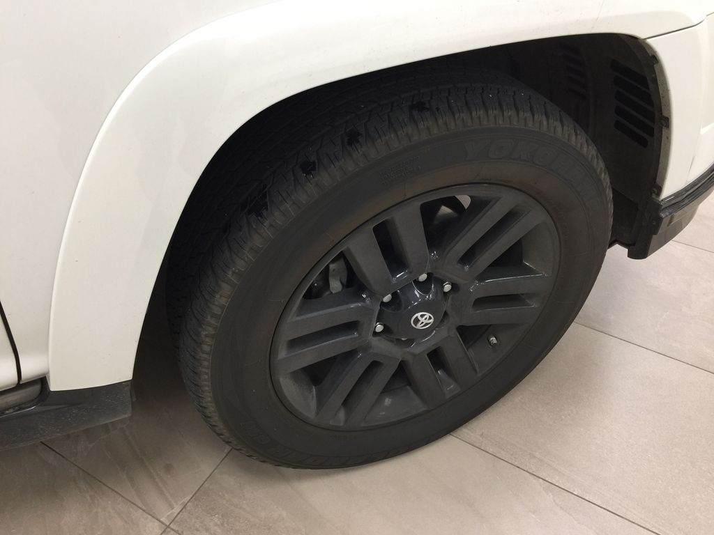 White[Blizzard Pearl] 2019 Toyota 4Runner Nightshade Right Front Rim and Tire Photo in Sherwood Park AB