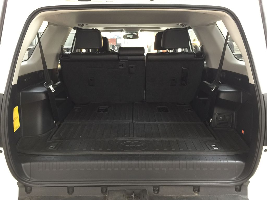 White[Blizzard Pearl] 2019 Toyota 4Runner Nightshade Cargo Area/Rear Seats Photo in Sherwood Park AB