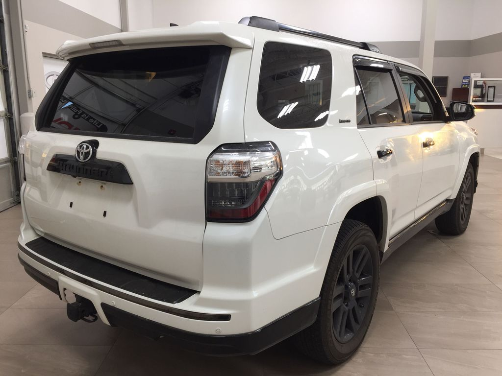 White[Blizzard Pearl] 2019 Toyota 4Runner Nightshade Right Rear Corner Photo in Sherwood Park AB