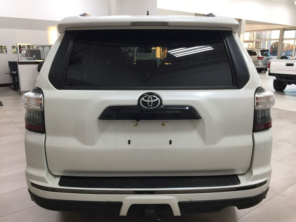 White[Blizzard Pearl] 2019 Toyota 4Runner Nightshade Rear of Vehicle Photo in Sherwood Park AB