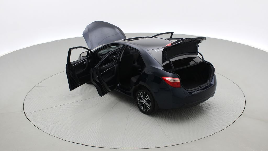 Blue[Galactic Aqua Mica] 2018 Toyota Corolla LE - Corolla Upgrade Package w/ Sunroof, Alloys Right  Rear Corner Photo in Winnipeg MB