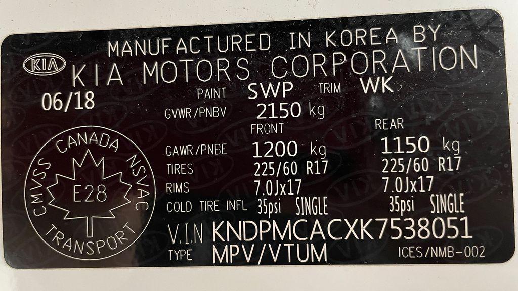 White[Snow White Pearl] 2019 Kia Sportage LX AWD - Heated Seats, Backup Camera, Bluetooth DOT Label Photo in Winnipeg MB