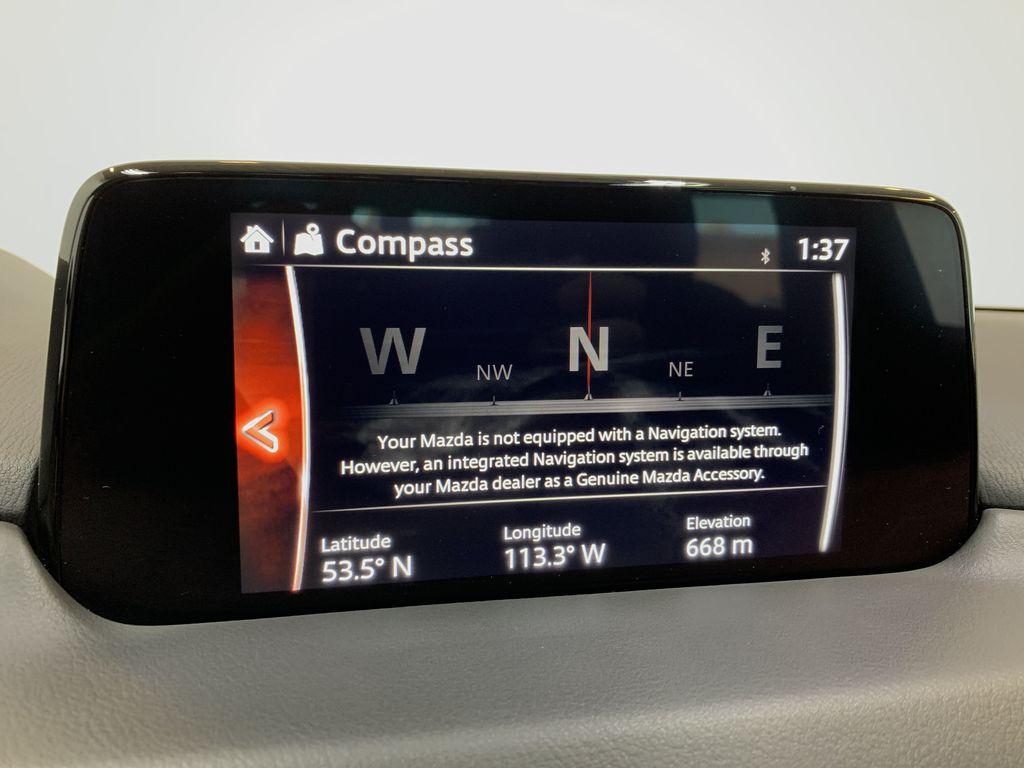 SOUL RED CRYSTAL METALLIC 2019 Mazda CX-5 GS - Bluetooth, Remote Start, Backup Cam, Adaptive Cruise, Apple CarPlay Navigation Screen Closeup Photo in Edmonton AB