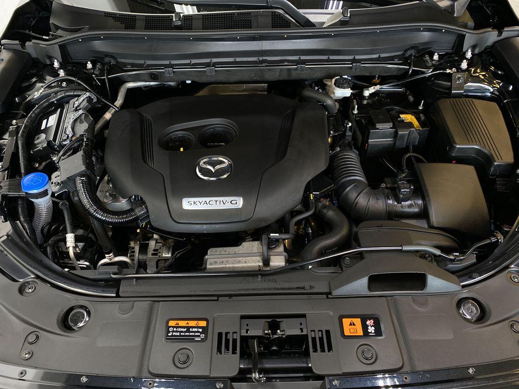 JET BLACK MICA 2021 Mazda CX-5 Signature AWD - Apple CarPlay, 360º Camera, Adaptive Cruise Engine Compartment Photo in Edmonton AB