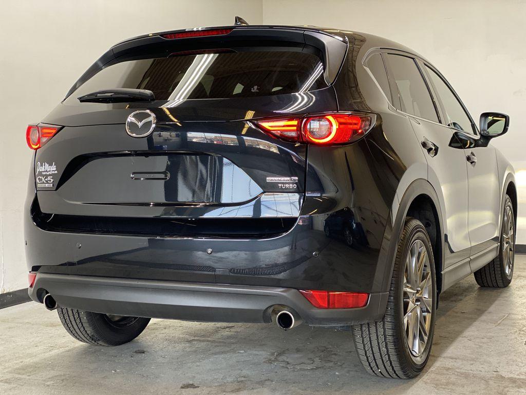 JET BLACK MICA 2021 Mazda CX-5 Signature AWD - Apple CarPlay, 360º Camera, Adaptive Cruise Right Rear Corner Photo in Edmonton AB