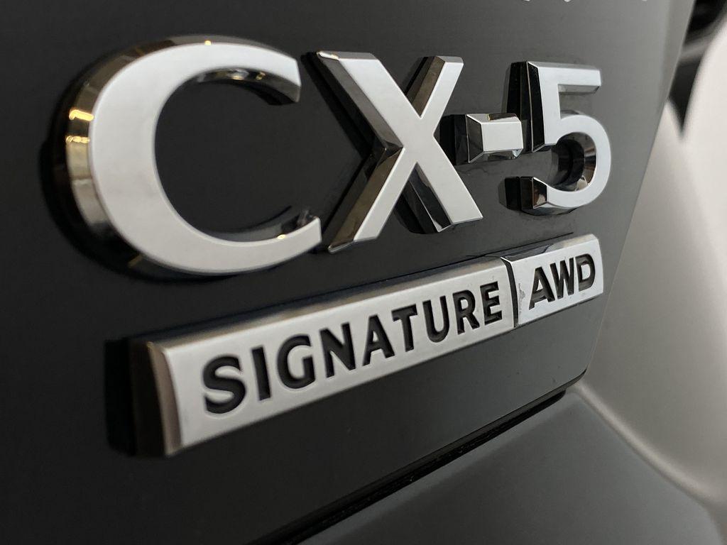 JET BLACK MICA 2021 Mazda CX-5 Signature AWD - Apple CarPlay, 360º Camera, Adaptive Cruise Trim Specific Photo in Edmonton AB