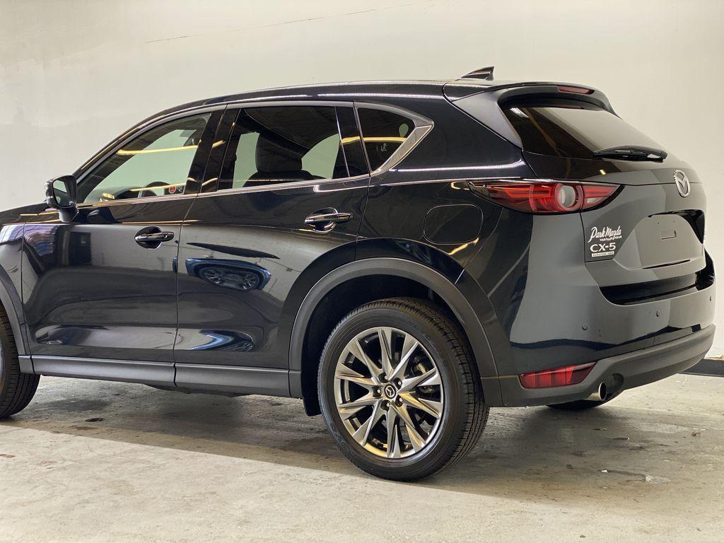 JET BLACK MICA 2021 Mazda CX-5 Signature AWD - Apple CarPlay, 360º Camera, Adaptive Cruise Left Rear Corner Photo in Edmonton AB