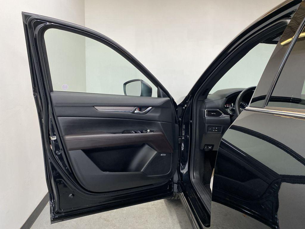 JET BLACK MICA 2021 Mazda CX-5 Signature AWD - Apple CarPlay, 360º Camera, Adaptive Cruise Left Front Interior Door Panel Photo in Edmonton AB
