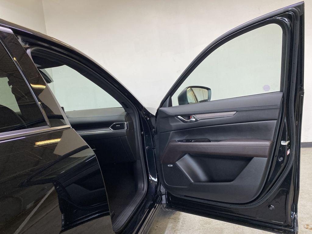 JET BLACK MICA 2021 Mazda CX-5 Signature AWD - Apple CarPlay, 360º Camera, Adaptive Cruise Right Front Interior Door Panel Photo in Edmonton AB