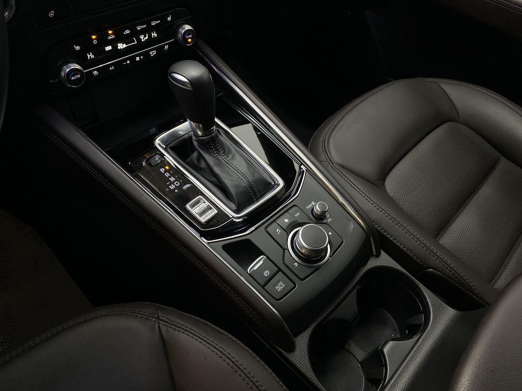 JET BLACK MICA 2021 Mazda CX-5 Signature AWD - Apple CarPlay, 360º Camera, Adaptive Cruise Center Console Photo in Edmonton AB