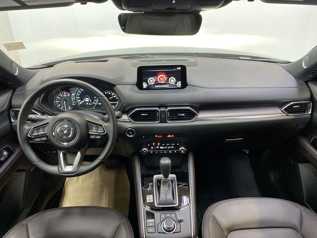 JET BLACK MICA 2021 Mazda CX-5 Signature AWD - Apple CarPlay, 360º Camera, Adaptive Cruise Strng Wheel/Dash Photo: Frm Rear in Edmonton AB
