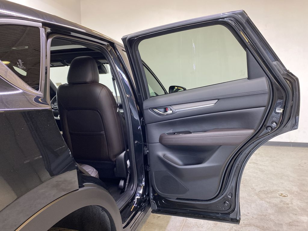 JET BLACK MICA 2021 Mazda CX-5 Signature AWD - Apple CarPlay, 360º Camera, Adaptive Cruise Right Rear Interior Door Panel Photo in Edmonton AB
