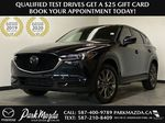 JET BLACK MICA 2021 Mazda CX-5 Signature AWD - Apple CarPlay, 360º Camera, Adaptive Cruise Primary Photo in Edmonton AB